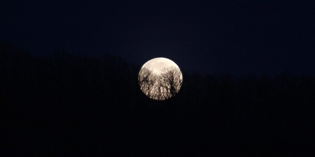 Blue Ridge moonset