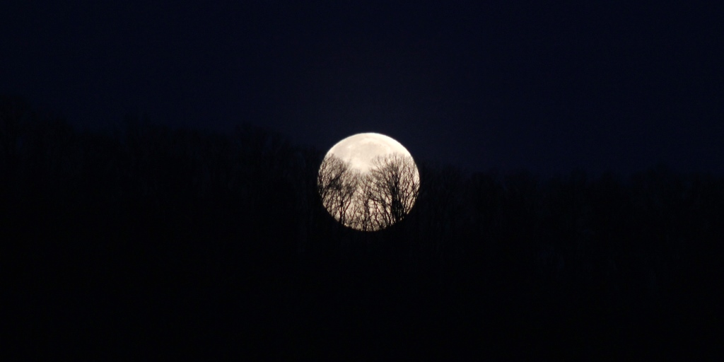 Blue Ridge moonset