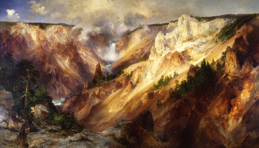 Grand Canyon of the Yellowstone by Thomas Moran, 1893-1901