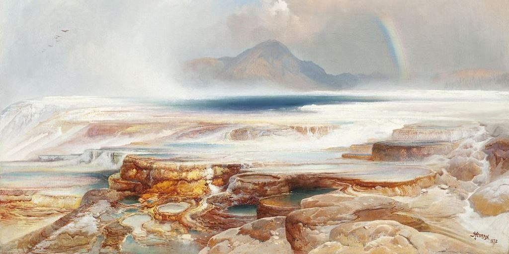 Hot Springs of the Yellowstone by Thomas Moran, 1872