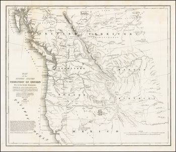 """Washington Hood, """"Map of the United States Territory of Oregon West of the Rocky Mountains"""""""