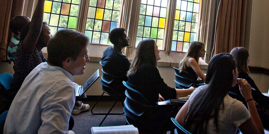 Students in class at Rhodes College