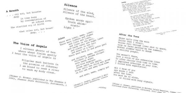 Found Poetry: My Earliest Publications