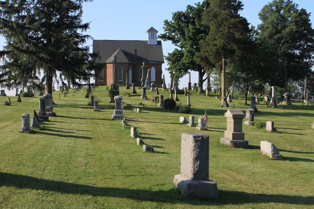 The historic Mount Tabor Church and Cemetery, Champaign County, Ohio