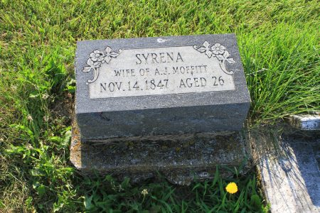 Syrena Moffitt, died November 14, 1847 at age 26