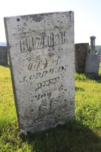 Elizabeth, age 26, died in May, 1818