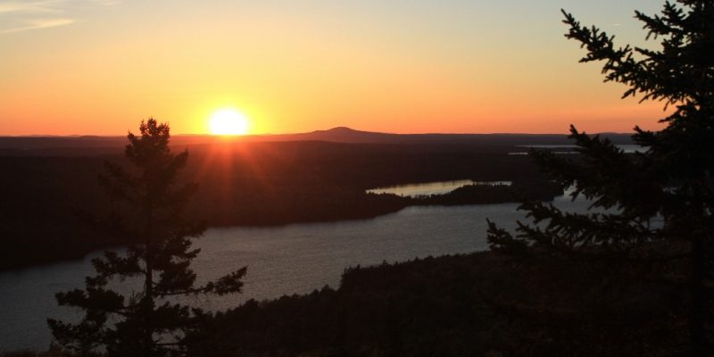 Sunset from the Beech Mountain Trail