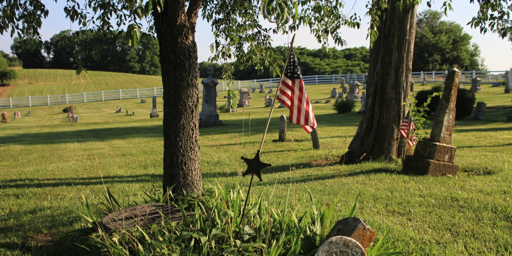 Veterans of the American Revolution are buried in the Mount Tabor Cemetery