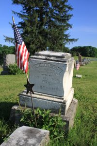 Grave of Civil War soldier Simeon L. Russell