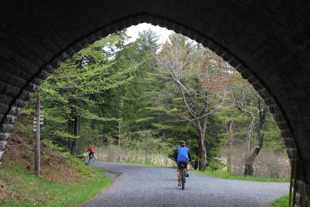 Bicycling on the carriage roads, Acadia National Park