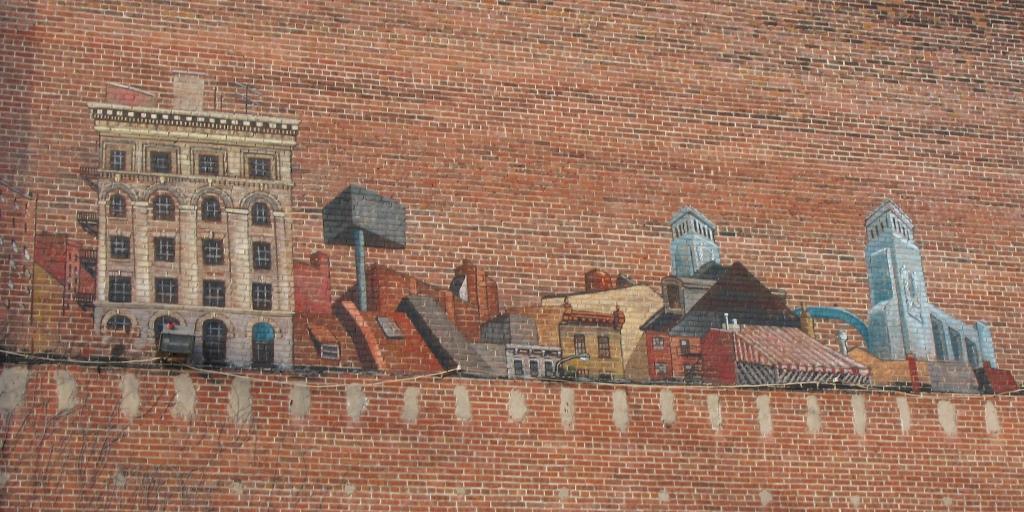 Philadelphia parking lot mural