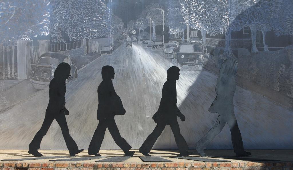 Beatles on Abbey Road sculpture, Walnut Ridge, Arkansas