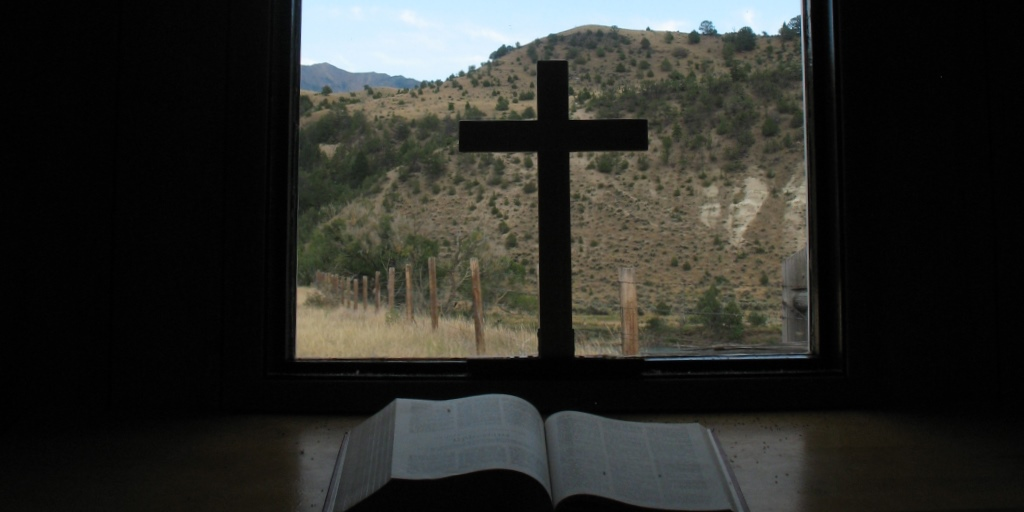 Bible and cross in Montana chapel