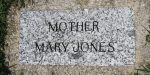 Mother Jones' gravestone, Mount Olive, Illinois