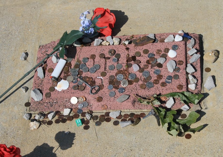 Offerings left on Mother Jones' grave
