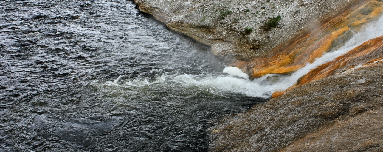 Runoff from the Midway Geyser Basin into the Firehole River