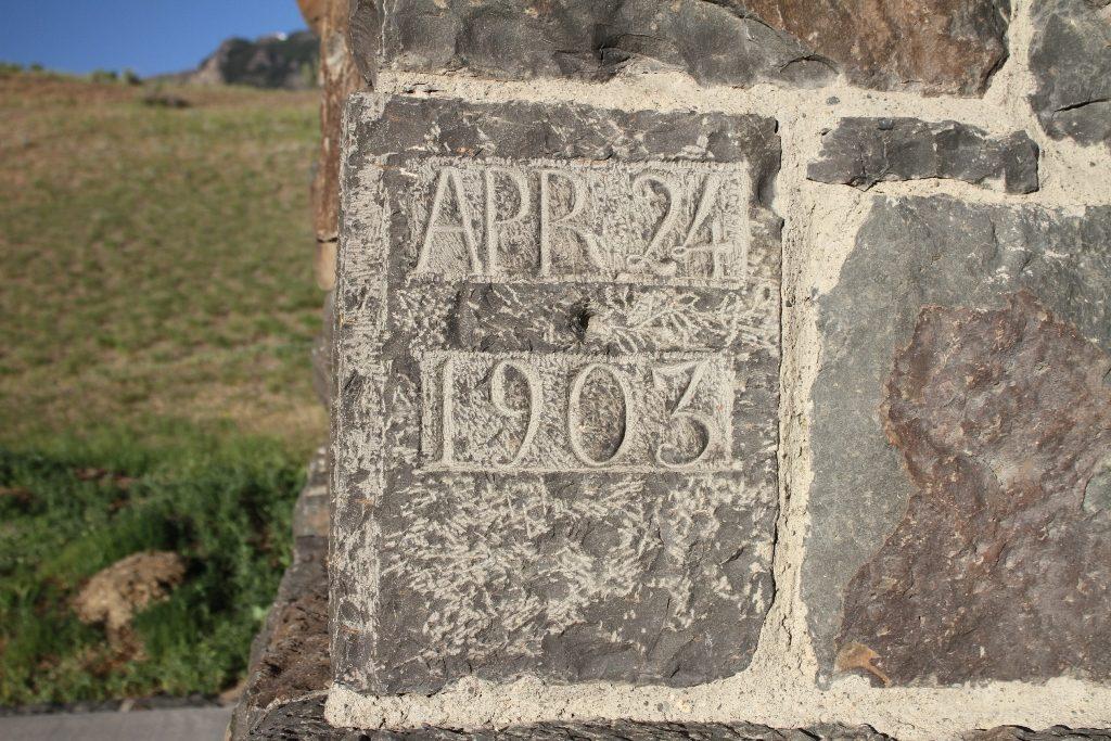 Roosevelt Arch cornerstone