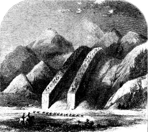 Thomas Moran's woodcut of Devil's Slide
