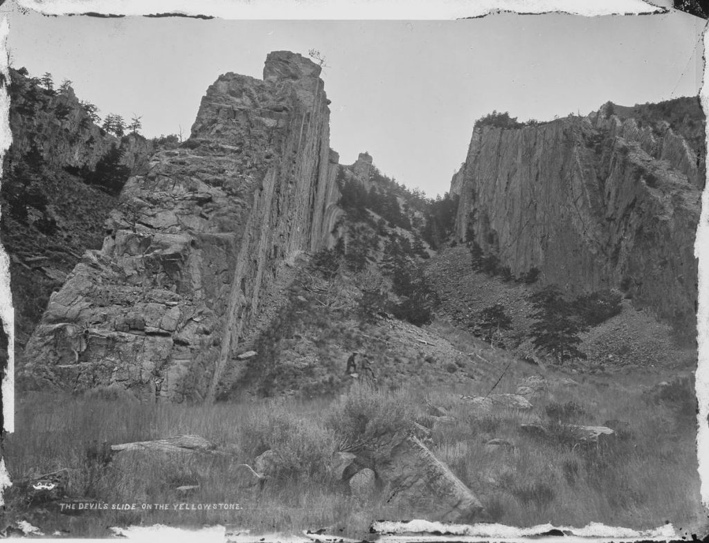 Devil's Slide photograph by William Henry Jackson, 1871