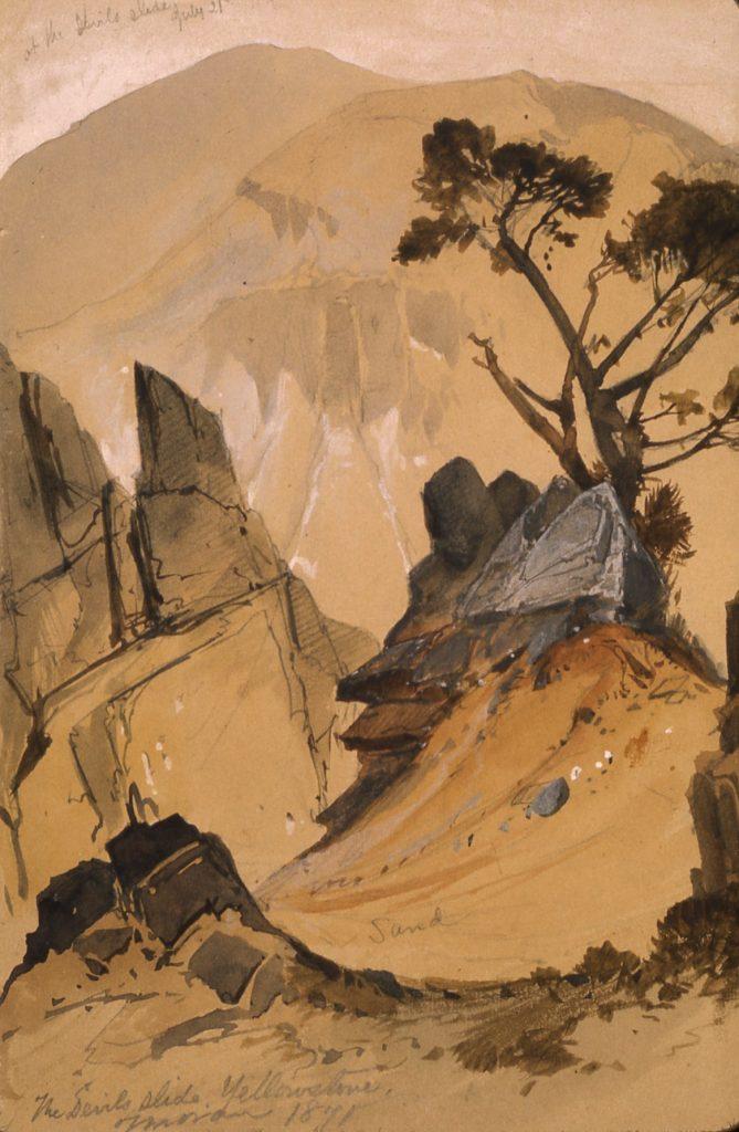Devil's Slide by Thomas Moran, 1871