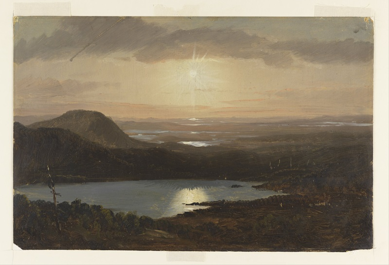 "Frederic E. Church, ""Eagle Lake Viewed from Cadillac Mountain"""