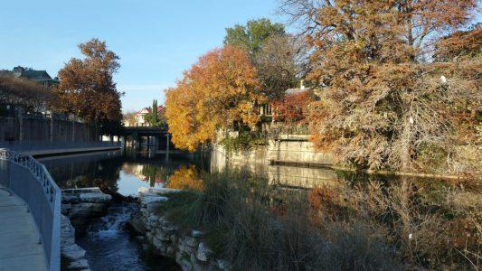 Morning on the Riverwalk along the San Antonio River