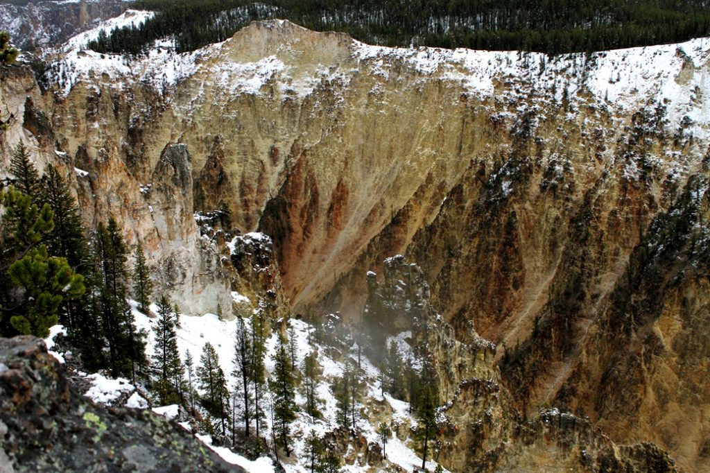 Canyon walls, Yellowstone National Park
