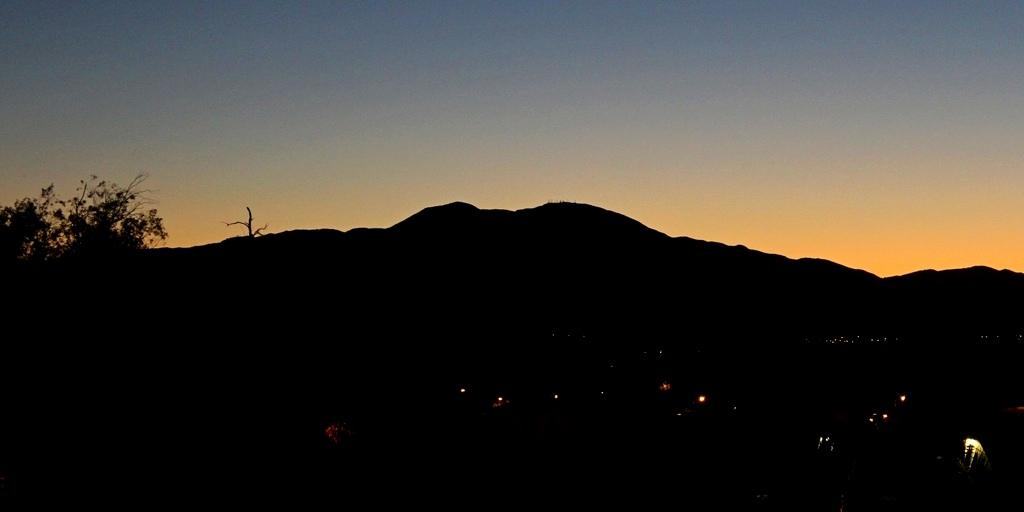 Saddleback Mountain in early morning