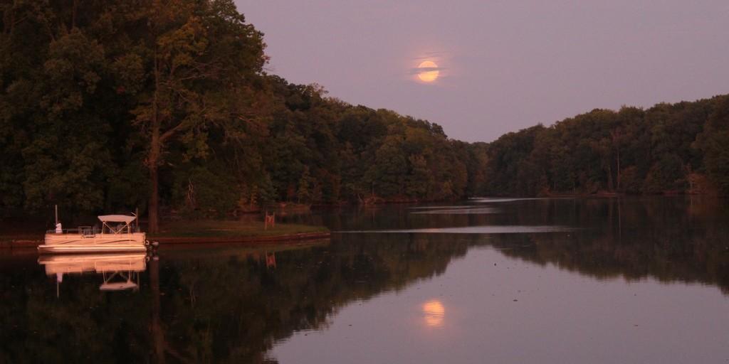 Moonrise over Poplar Tree Lake