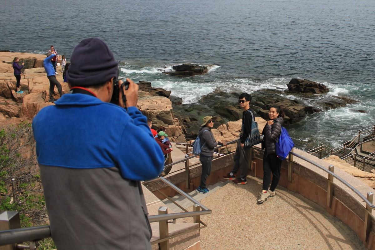 Acadia tourists